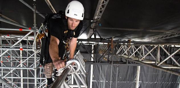 Rigger in the Roof on Truss